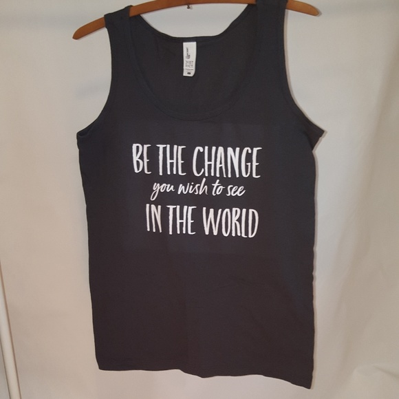 Milk Drunk Clothing Tops - Be The Change You Want To See In The World Tank